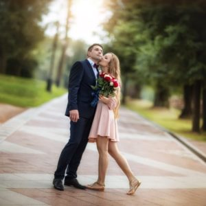 прогулка жениха и невесты в Царицыно