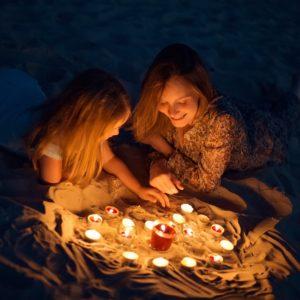 семейная фотосессия со свечами