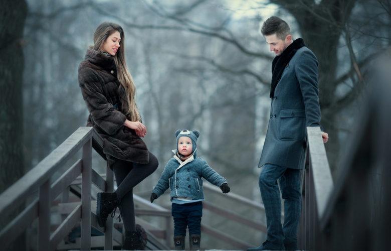 зимняя семейная фотосессия