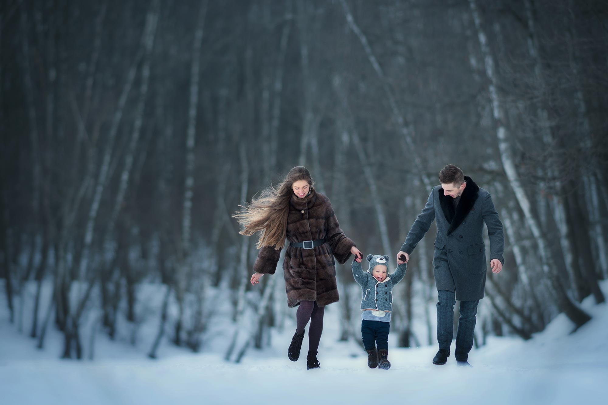 семейная фотосессия зимой