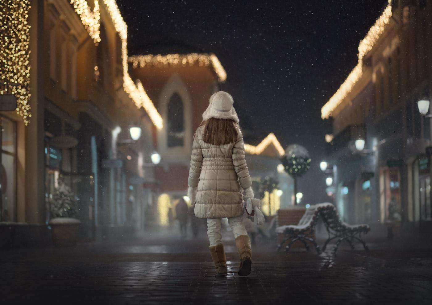 ночная съемка зимой